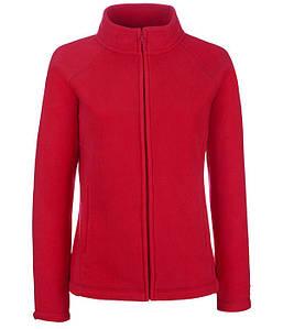 Женская флисовая кофта S, 40 Красный