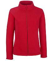Женская флисовая кофта 2XL, 40 Красный