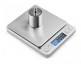 Весы ювелирные электронные UKS с 2-мя чашами 0.1-2000 грамм МН-267 Серебряные (ml-1)