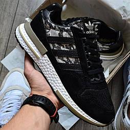 """Мужские кроссовки Adidas ZX 500 RM """"Black Camo"""" черные 41-44р (Реплика ААА+)"""