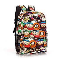 Школьный яркий рюкзак с рисунком.