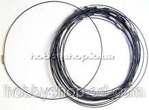 Основа для колье и кулонов Чокер (цвет черный) 100 шт в уп.