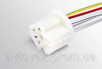 Разъем переключателя вентилятора отопителя ВАЗ 2108-15 с проводами
