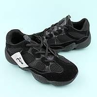 Кроссовки черные подростку черные сетка тм Violeta размер 37,38,39,40