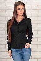 Классическая рубашка черного цвета 42,44,46,48  р.