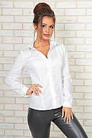 Классическая рубашка белого цвета 42,44,46,48  р.
