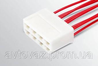 Разъем ВАЗ межжгутовой 8 контактный серии 6,3 с проводами гнездовой