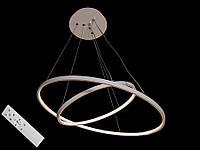 Светодиодная подвесная люстра с регулируемой высотой и пультом-диммером белая 9079-60*40, фото 1