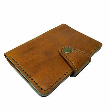 Коричневое мужское портмоне для документов ручной работы