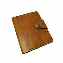 Коричневое мужское портмоне для документов ручной работы, фото 2