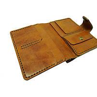 Коричневое мужское портмоне для документов ручной работы, фото 4