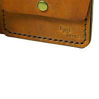 Коричневое мужское портмоне для документов ручной работы, фото 3