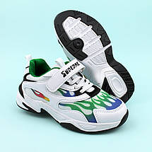 Детские белые кроссовки  Пламя тм Violeta размер 33, фото 2