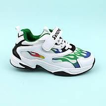Детские белые кроссовки  Пламя тм Violeta размер 31,32,33,34,35,36, фото 3
