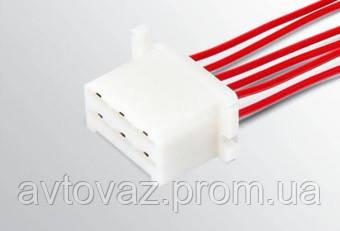 Разъем ВАЗ межжгутовой 6 контактный серии 6,3 с проводами гнездовой
