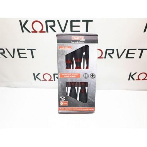 Набор ударных отвёрток 6 шт с магнитным наконечником PowerFix Profi