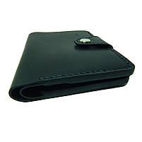 Черное мужское портмоне для документов ручной работы, фото 2