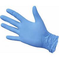 Перчатки нитриловые голубые размер S 100 шт