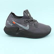 Кросівки сірі підліткові текстиль тм Violeta розмір 39, фото 3