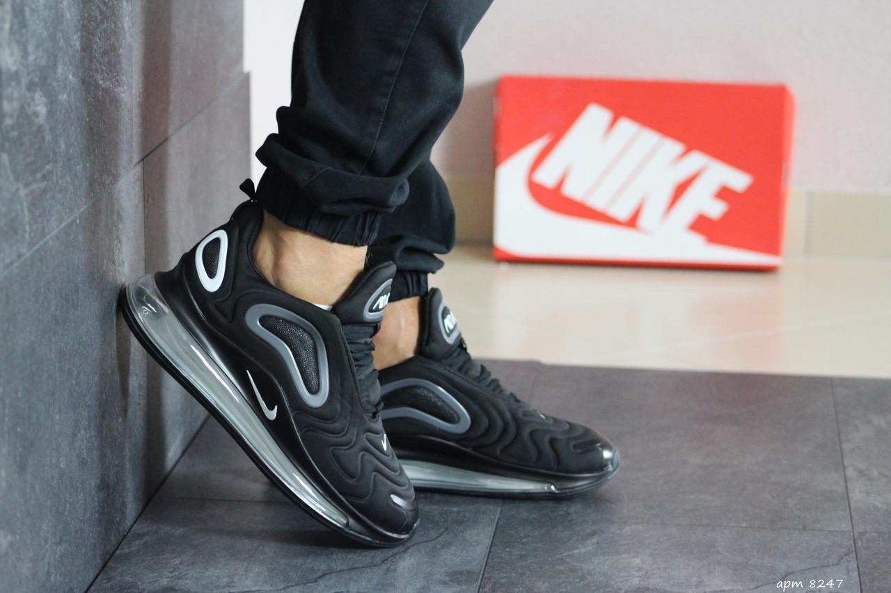 Мужские кроссовки Nike Air Max 720 (черно-серые)