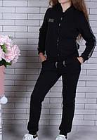 Спортивный костюм-тройка (Юбка, брюки, кофта) #42199. 9-10-11-12-13-14 лет (134-164 см). Черный. Оптом, фото 1