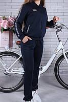 Спортивный костюм-тройка (Юбка, брюки, кофта) #42199. 9-10-11-12-13-14 лет (134-164 см). Темно-синий. Оптом, фото 1