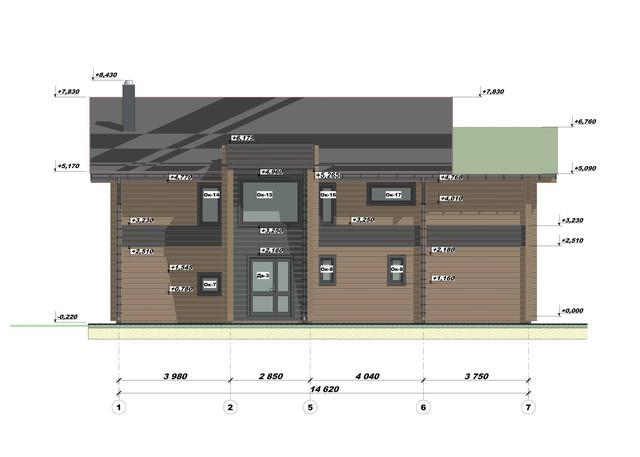 Эскизный проект дома из бруса фото 2