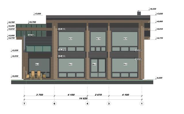 Ескізний проект будинку з бруса фото 3