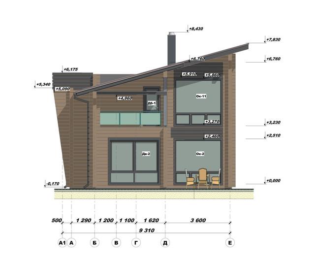 Эскизный проект дома из бруса фото 4