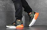 Чоловічі кросівки Nike Air Force 270 (темно-зелені), фото 3