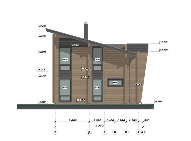 Ескізний проект будинку з бруса фото