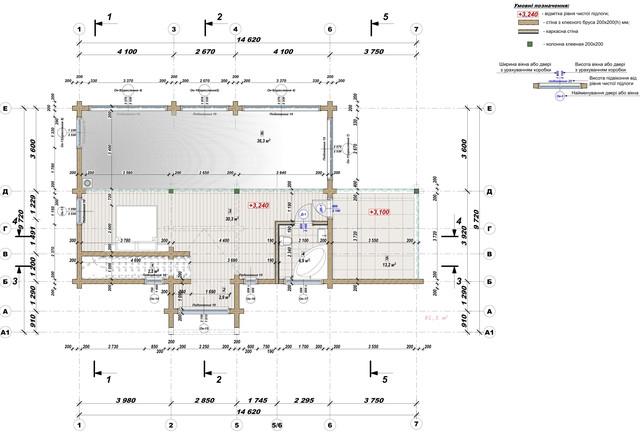 Ескізний проект будинку з бруса фото 16