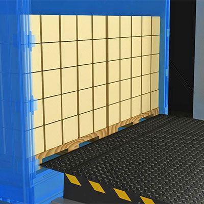 Уравнительные платформы с выдвижной аппарелью Alutech TL (Размер 2500х2000 мм, аппарель 500 мм)