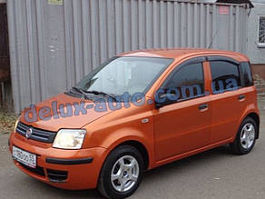 Ветровики Cobra Tuning на авто Fiat Panda II 2003-2012 Дефлекторы окон Кобра для Фиат Панда 2 2003-2012