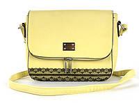 Небольшая стильная женская наплечная сумочка Little Pigeon art. 70650 желтая
