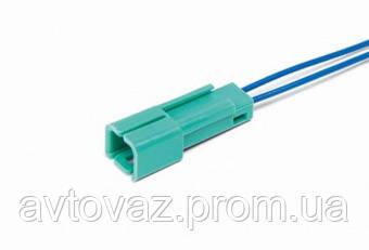 Разъем датчика иммобилайзера 2 контактный зеленый с проводами