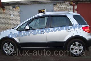 Ветровики Cobra Tuning на авто Fiat Sedici Hb 2005 Дефлекторы окон Кобра для Фиат Себики хэтчбек 2005