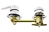 Смеситель для душевой кабины ( С-4\14 ) на четыре положения с штуцерами и 14 см по центрам., фото 6