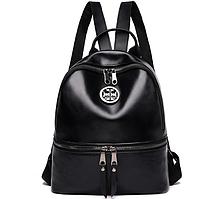 Рюкзак черный, кожзам