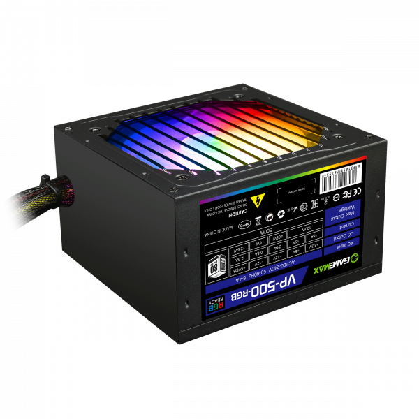 "Блок питания GameMax VP-500-RGB 500W ""Over-Stock"""