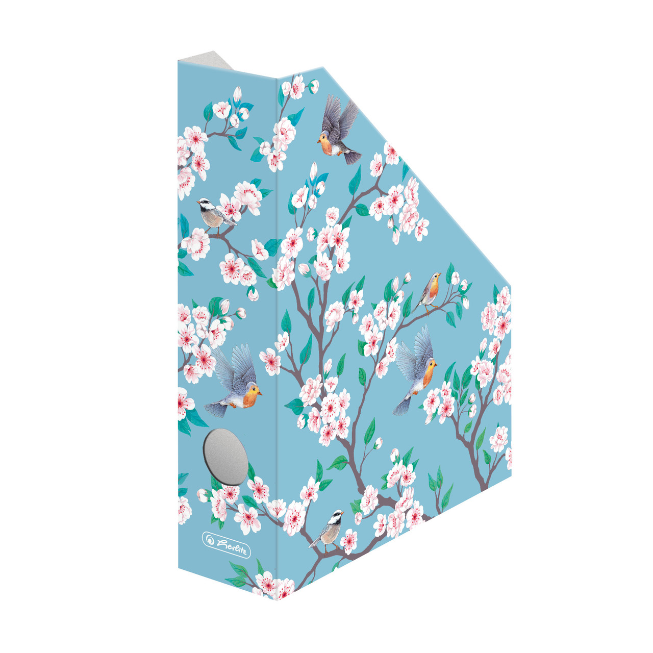 Лоток для паперу вертикальний Herlitz 7см картон Ladylike Birds