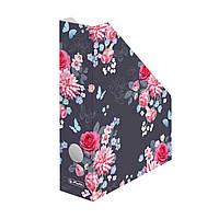 Лоток для паперу вертикальний Herlitz 7см картон Ladylike Flowers