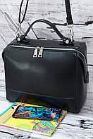 Женская небольшая сумка из натуральной кожи Galanty 11083 black.