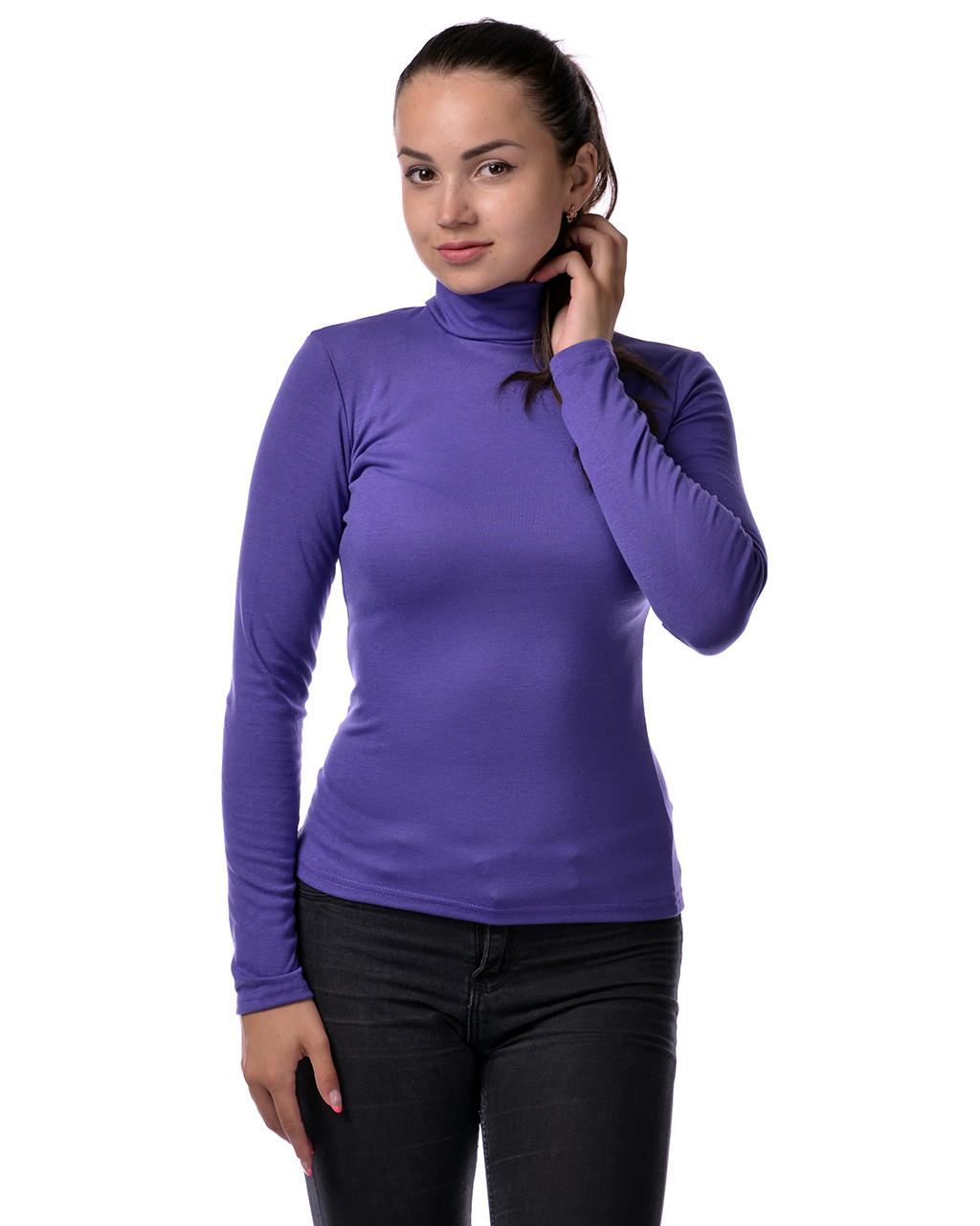 Водолазка гольф женский из полушерсти на флисе М(42-46), фиолет
