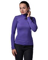 Водолазка гольф женский из полушерсти на флисе М(42-46), фиолет, фото 1