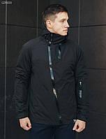 Куртка мужская демисезонная Staff HH black с ассиметричными молниями