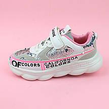 Кроссовки для девочки пайетки розовые тм Violeta  размер 34, фото 2