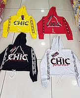 """Батник-топ женский CHIC с капюшоном, размеры S-XL (4цв) """"COCO"""" купить недорого от прямого поставщика"""
