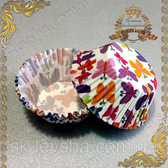 Формы для кексов Бабочки, бумажные 50 шт.