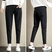 666810 Черные джинсы для беременных широкие
